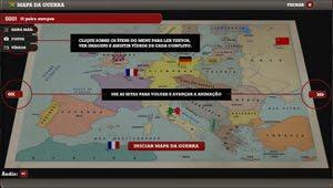Mapa interativo sobre a 2ª Guerra Mundial