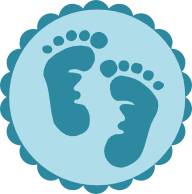 Scrapcation Getaway: Baby Footprints SVG & Digi Stamp