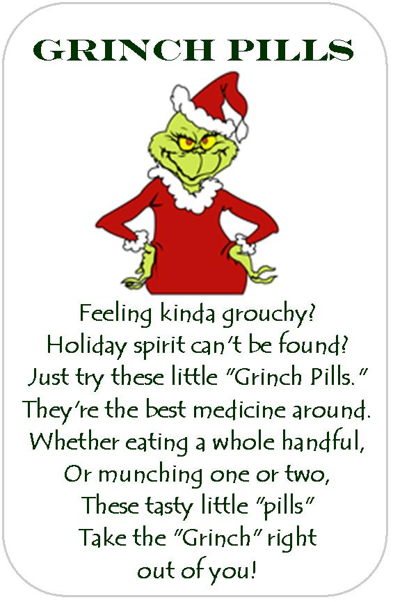 Ridiculous image with grinch pills printable