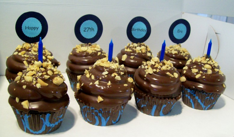 Chocolate-Covered Peanut Butter Hi-Hat Cupcakes