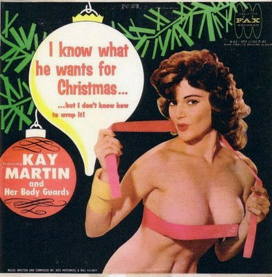 Kay Martin and her body guards - I know what he wants for Christmas