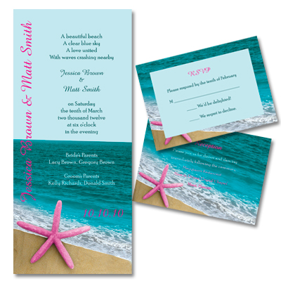 Beach Wedding on Beach Wedding Theme  Wedding Invitation Ideas