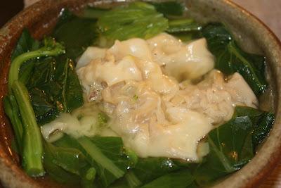 wonton soup with bok choy shiitake enoki mushrooms wonton soup made ...