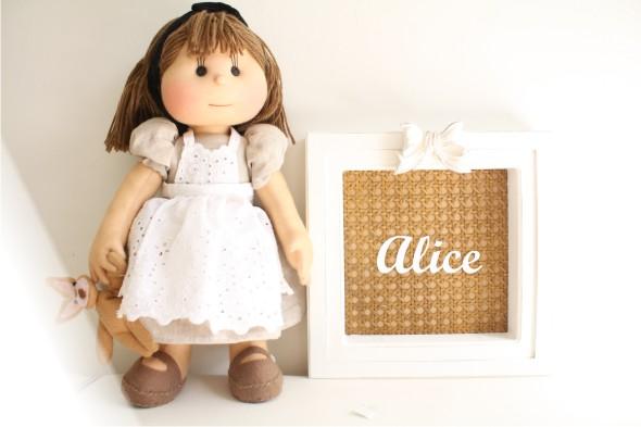 quadro+palhinha Quadrinho da Alice