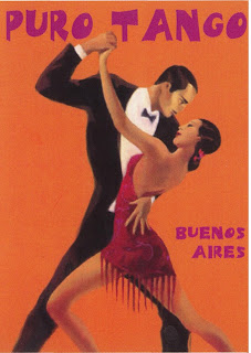 Poster of Tango dancers in Buenos Aires, Argentina