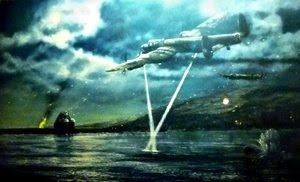 Dambusters Painting in the Peak District - Crossing Beams