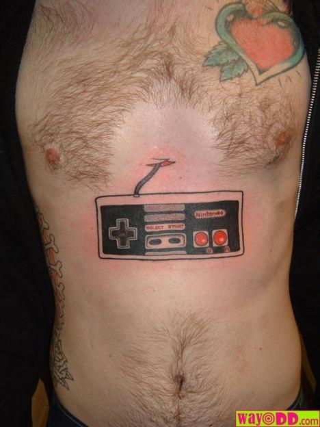 believe tattoo. Nintendo Tattoo on the Chest