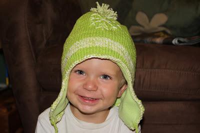 snowflake knit hat