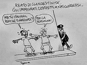 NO a la nueva Ley de Inmigracion en Italia