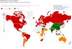 Mapa de la Recesión Económica Global. 31-07-2009
