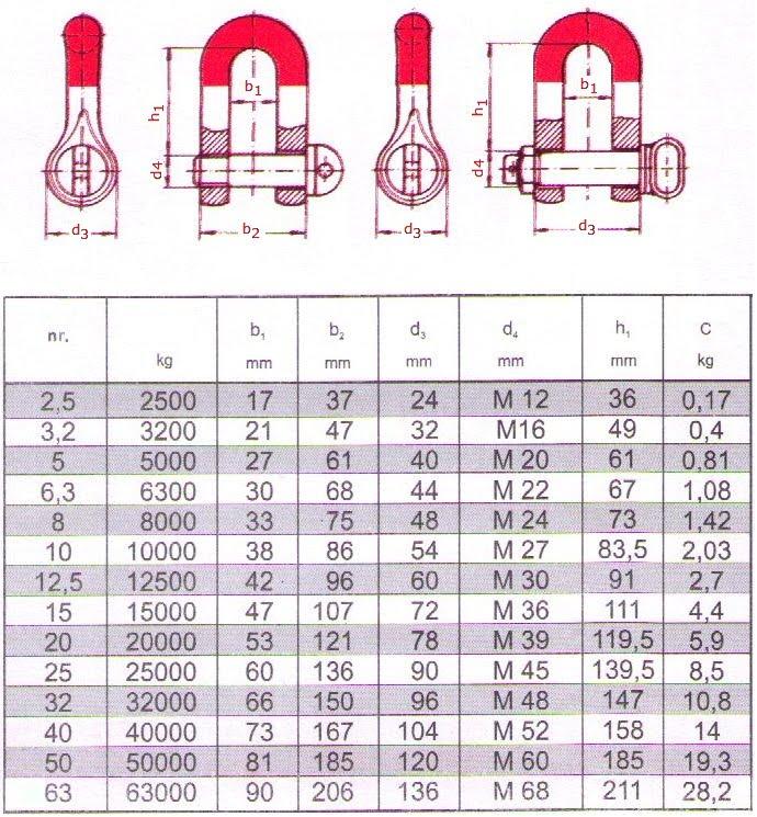 braant: Schäkel, ähnlich DIN 82101, Form C galv. Verzinkt