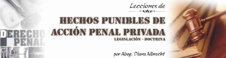 HECHOS PUNIBLES DE ACCIÓN PENAL PRIVADA