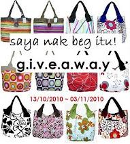 give away - saya nak beg itu