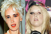 Paula Yates and Peaches Geldof
