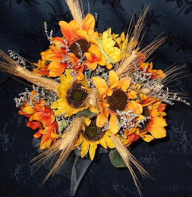 Sunflower Wedding Bouquets a fall wedding Bouquet of