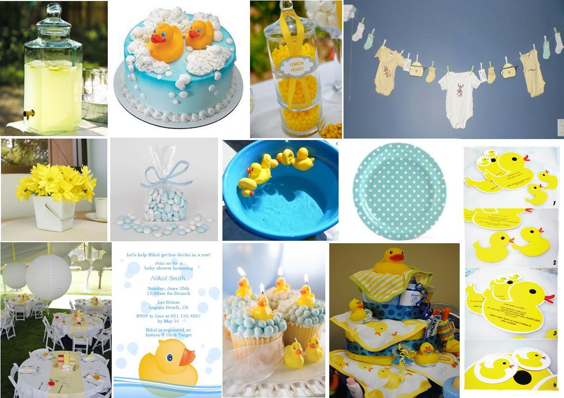 Peach pizzazz rubber duck baby shower for Baby shower decoration theme