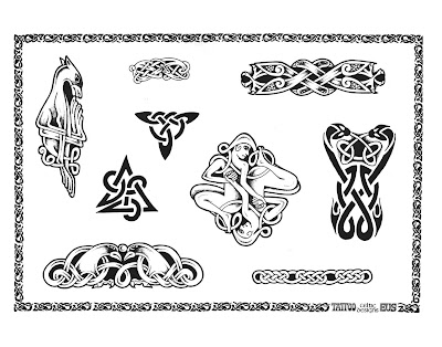Panther and Cobra tattoo Royalty Free Stock Vector Art Illustration