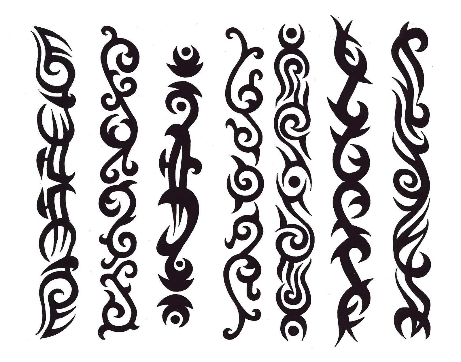 Drawing Tribal Tattoo Designs