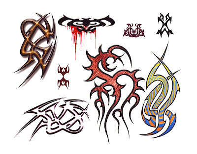 True Tribal Tattoo Body Art Sheets of tattoo flash