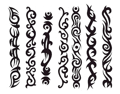 (image) Bicep Tribal Armband Tattoo (image) Maori Tribal Armband Tattoo