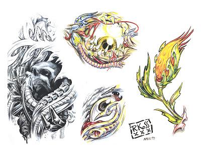 Ink Art Tattoos: Black Wings Swan Tattoo Flash by 1estel
