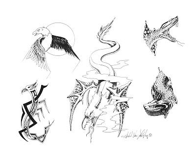 Free tattoo flash designs 50