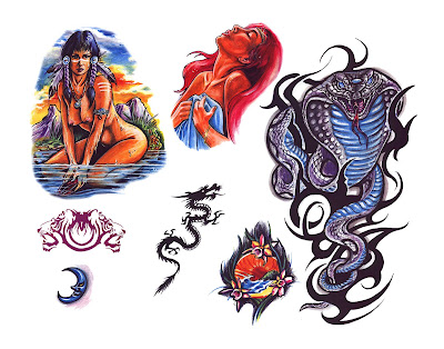 SAILOR JERRY Collins TATTOO flash sheet 51 USA SHIP. SAILOR JERRY FLASH ART