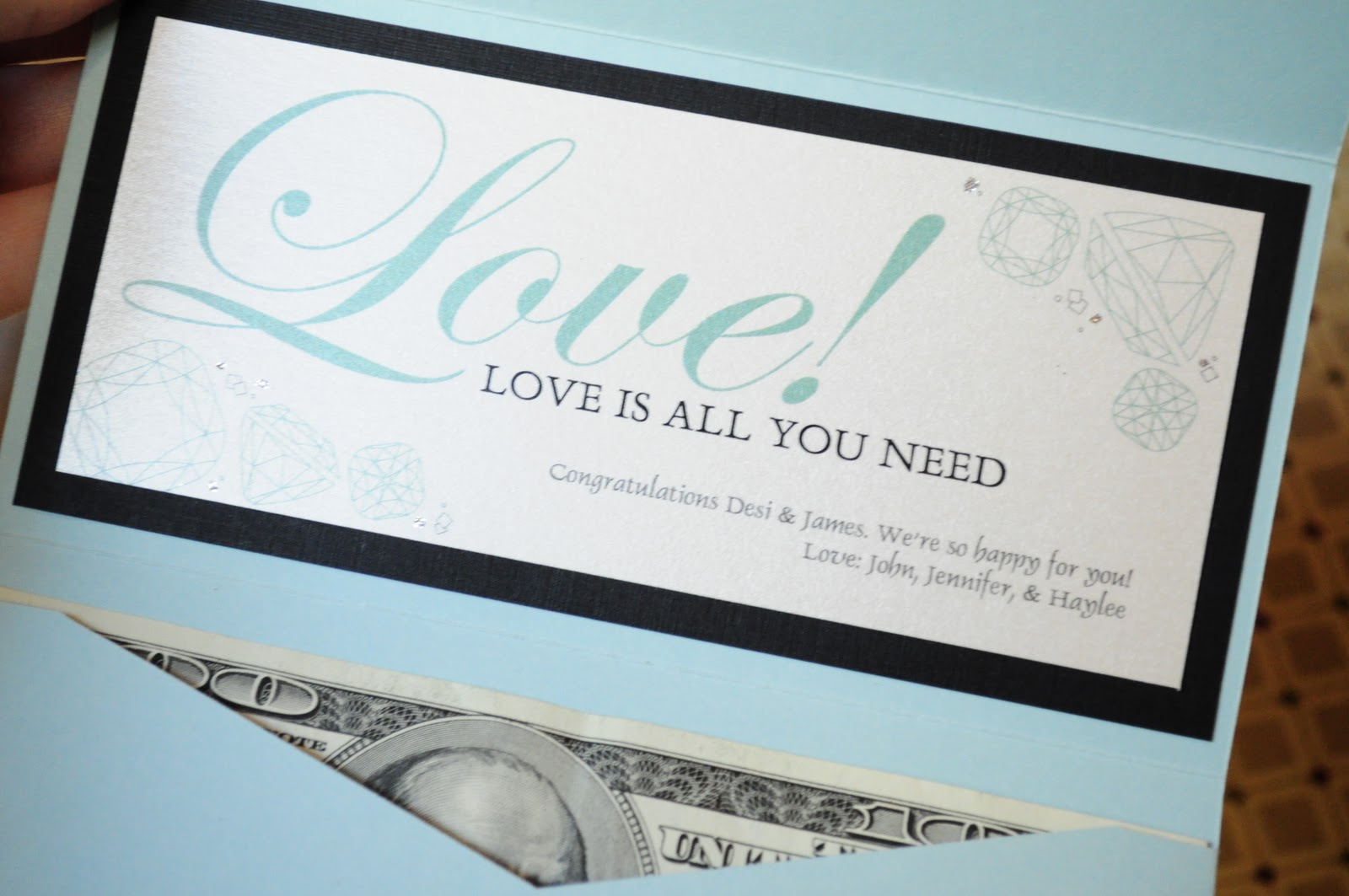 Gift Card Or Check For Wedding Gift : greeting cards. Designed for cash or check gifts. Perfect for wedding ...