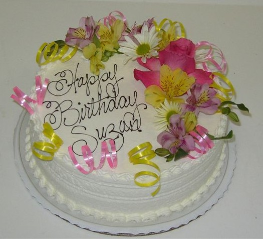 Birthday Flowers Cake. Very special for your love one. Birthday flowers