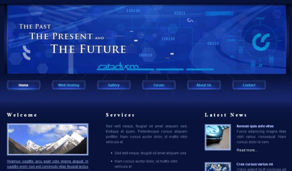 Dark Blue Black CSS Website Template
