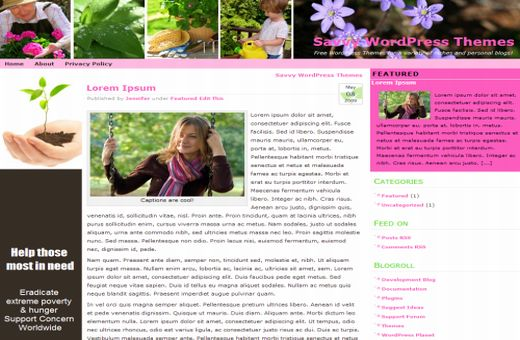 Free Wordpress Flowers Garden Theme Template
