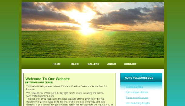 Blue Green Free CSS Website Template