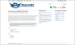 TheLast84 blogger template