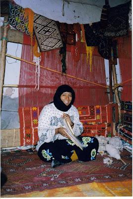 Tejedoras de alfombras. Marrakesh, Marruecos