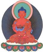 Buda Amitabha. Su nombre significa LUZ INFINITA y simboliza el amor y la compasión