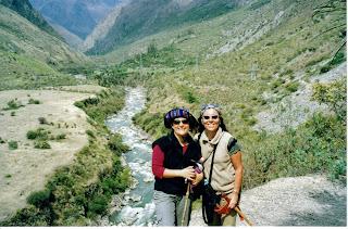 Patty & yo, atrás el Río Vilcanota