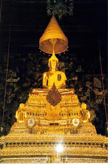 Buda de oro. Wat Po, Bangkok