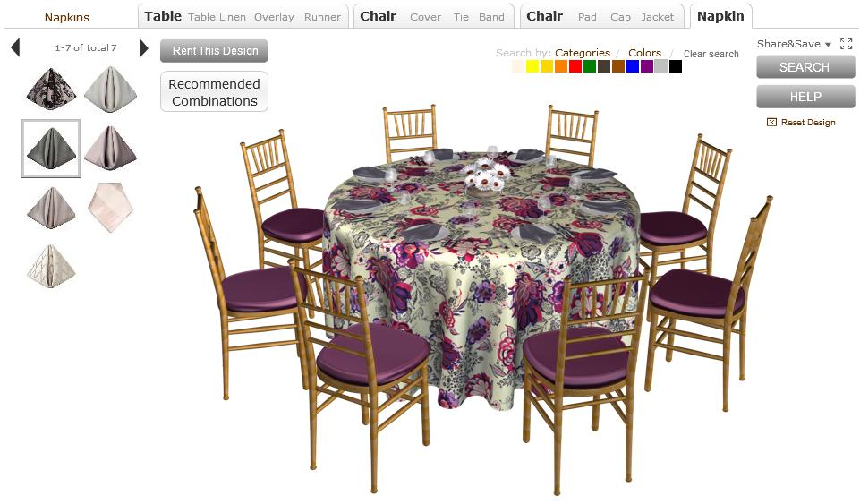 Do it yourself weddings virtual tool to help you select for Wedding table design tool