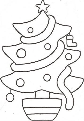 Dibujos navidad para colorear infantiles arbol de navidad - Dibujos navidenos para ninos ...