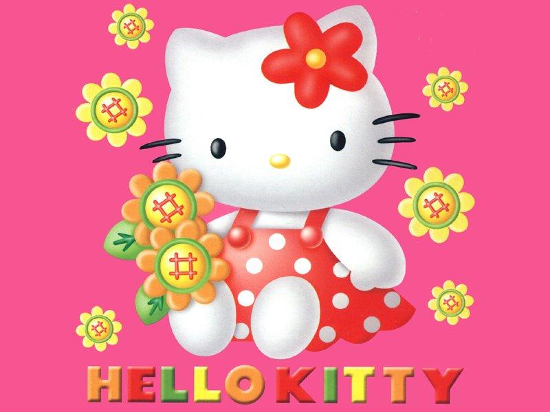 FONDOS DE ESCRITORIO DE HELLO KITTY:HELLO KITTY Y SUS FLORES : COSAS ...