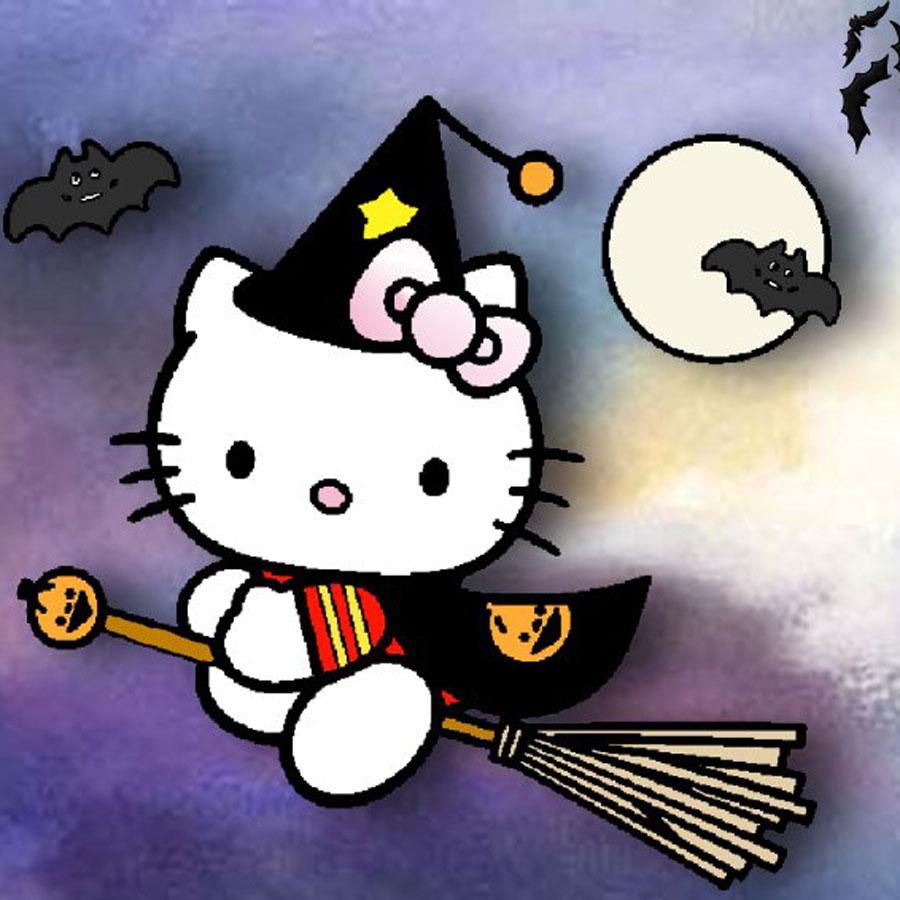 Imprime Gratis Dibujo De Brujita De O Kitty Infantil Para Ninos
