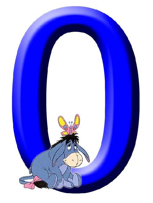 NUMEROS INFANTILES DE WINNIE THE POOH:NUMERO 0 CON EL BURRITO IGOR ...