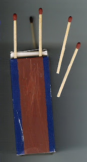 Picture shows how mountain climbers leave matches in mountain refuges to assist getting a fire going thus anticipating the need to have matches out of the box for frost bitten fingers: a parallel attempting to illustrate the need also for technology to be assistive for the public and to present no barriers to immediate use.