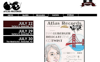 Atlas Records Shows Page preview