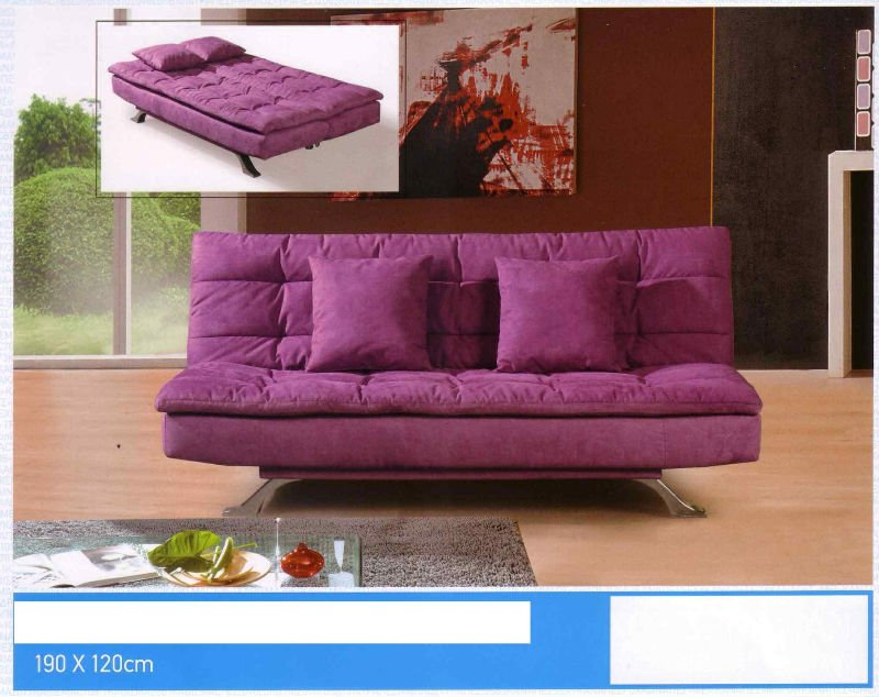 Sofa cama en microfibra for Futon cama 1 plaza