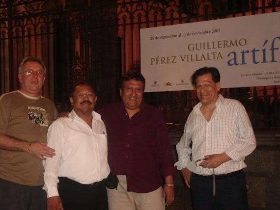 EN EL TALLER DE MI HOMONIMO EL ARTISTA GUILLERMO PÉREZ VILLALTA