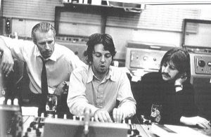 George Martin with Paul and Ringo