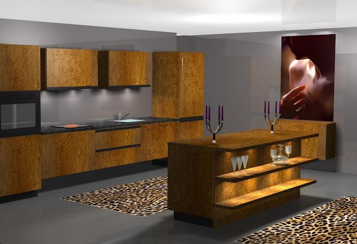 """Diseño de cocina en """"ALTO STANDING"""""""