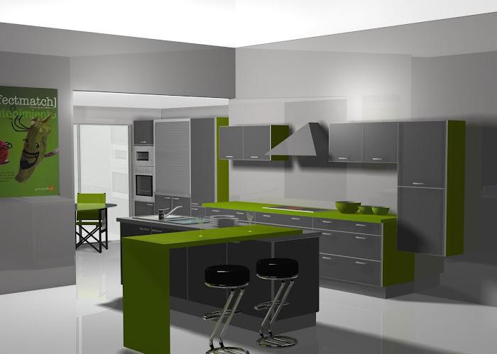 Diseño de cocina en gris
