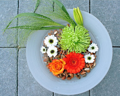sjösten, germini Harley, chrysanthemum Anastasia, ros Tucan, santini Black Eye, siergrass fountain